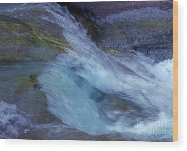 Nature Wood Print featuring the photograph Tropical Flowing Waters by Kerryn Madsen- Pietsch
