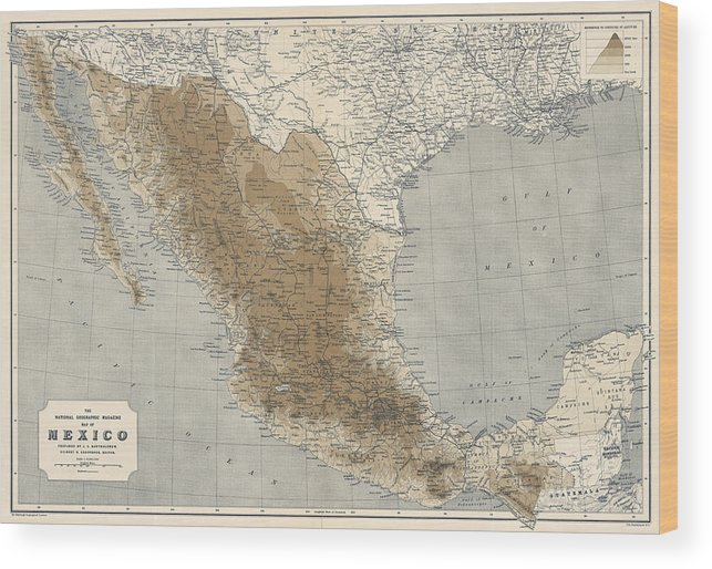 Vintage Map Of Mexico - 1911 - National Geographic Wood Print on genetic map of mexico, generic map of mexico, climate map of mexico, 15 geographical features of mexico, political map of mexico, natural map of mexico, geography of mexico, geophysical map of mexico, environmental map of mexico, map of cancun mexico, bing maps of mexico, blank map of mexico, tectonic map of mexico, demographic map of mexico, topological map of mexico, qualitative map of mexico, detailed map of mexico, territorial map of mexico, artistic map of mexico, geology map of mexico,