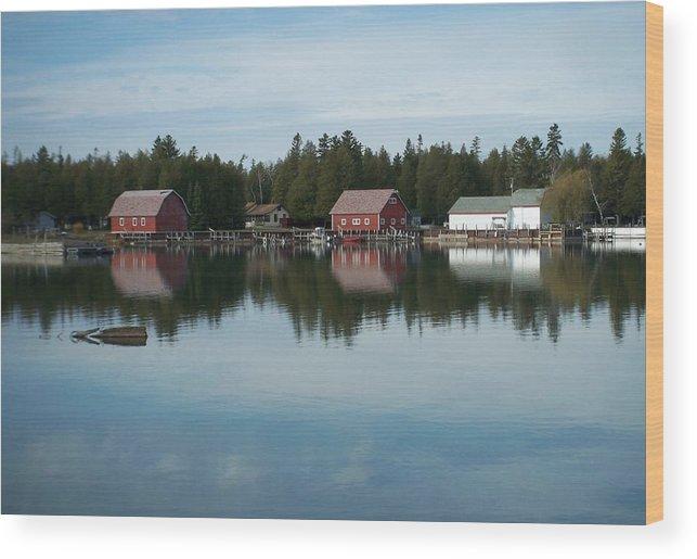 Washington Island Wood Print featuring the photograph Washington Island Harbor 5 by Anita Burgermeister