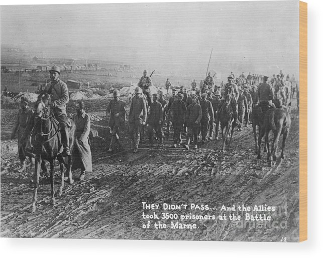 1918 Wood Print featuring the photograph World War I: German Pows by Granger