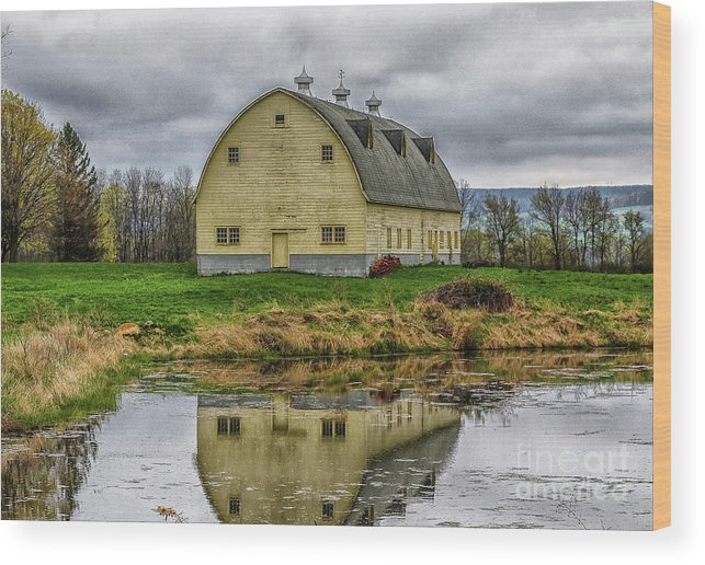 Barn Wood Print featuring the photograph Yellow Barn by Jo Anne Keasler