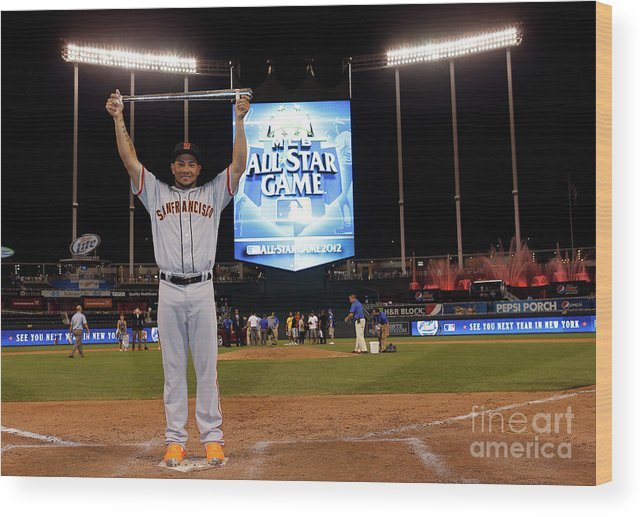 American League Baseball Wood Print featuring the photograph 83rd Mlb All-star Game 1 by Jamie Squire