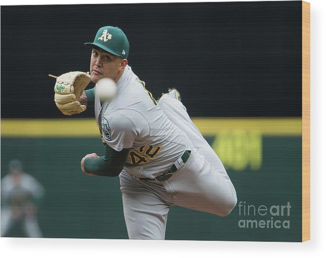 Second Inning Wood Print featuring the photograph Oakland Athletics V Seattle Mariners 1 by Lindsey Wasson