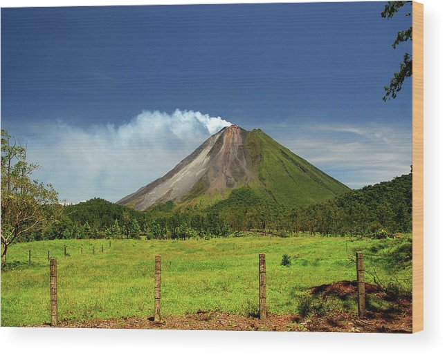 Scenics Wood Print featuring the photograph Arenal Volcano - Costa Rica by Titoslack
