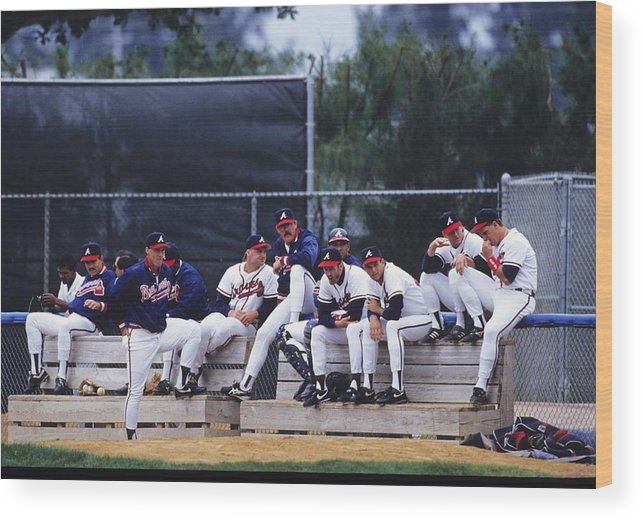 Florida Wood Print featuring the photograph Atlanta Braves by Ronald C. Modra/sports Imagery