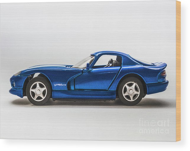Dodge Viper Wood Print featuring the photograph In Race Blue by Jorgo Photography - Wall Art Gallery