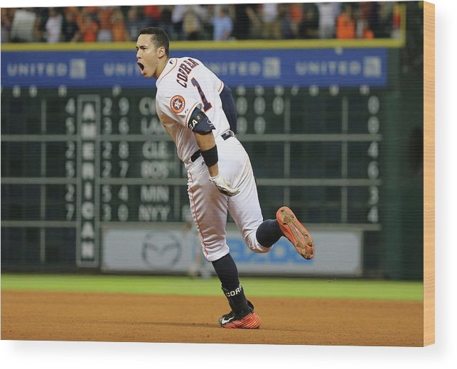 People Wood Print featuring the photograph Carlos Correa by Scott Halleran