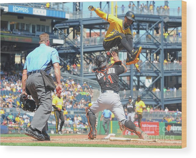Event Wood Print featuring the photograph J. T. Realmuto by Justin Berl