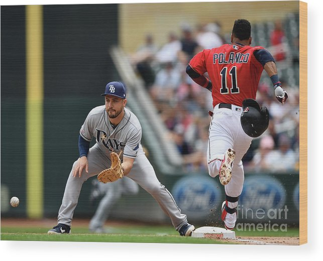 People Wood Print featuring the photograph Jorge Polanco And Travis D'arnaud by Hannah Foslien