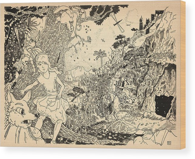 Wurtherington Wood Print featuring the drawing Open Sesame by Reynold Jay