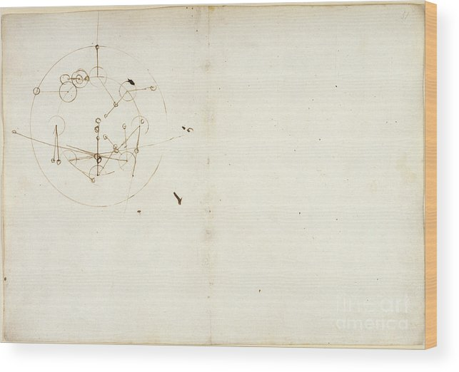 16th Century Wood Print featuring the photograph Drawings By Leonardo Da Vinci by British Library