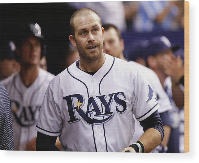 Instant Replay Wood Print featuring the photograph Texas Rangers V Tampa Bay Rays 2 by Brian Blanco