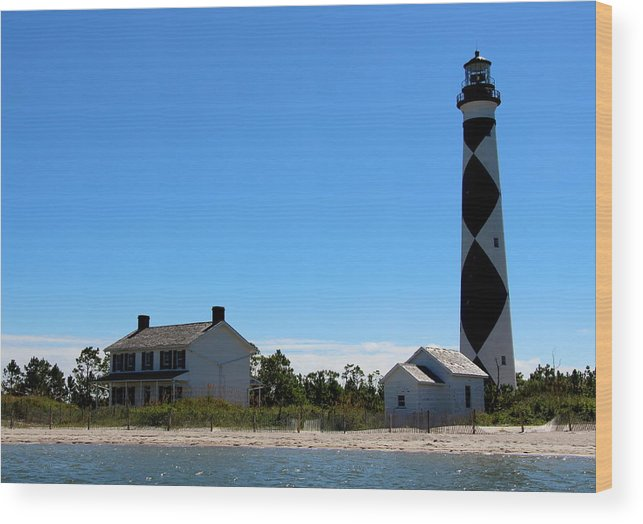 Cape Lookout Wood Print featuring the photograph Cape Lookout Approach by Rand Wall