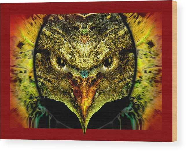 Faces Of Trees Wood Print featuring the photograph Chirping Killer by Oliver Norden