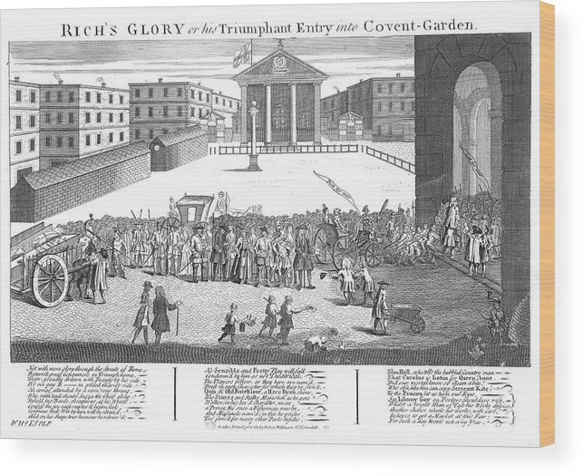 Covent Wood Print featuring the drawing Covent Garden Theatre Is Built by Mary Evans Picture Library