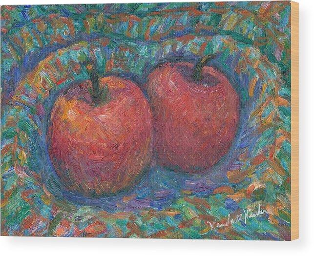 Kendall Kessler Wood Print featuring the painting Cozy by Kendall Kessler