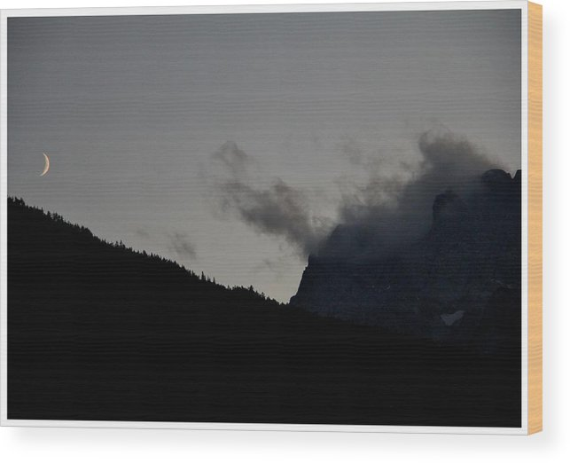 Quarter Wood Print featuring the photograph Dusk In The Alps by Frank Wickham