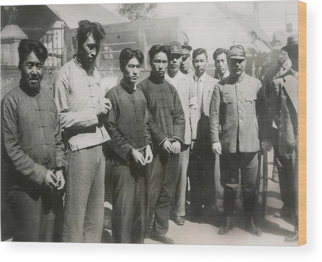 History Wood Print featuring the photograph Four Chinese Who Guarded The British by Everett