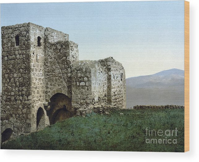 1895 Wood Print featuring the photograph Holy Land: Ruins by Granger