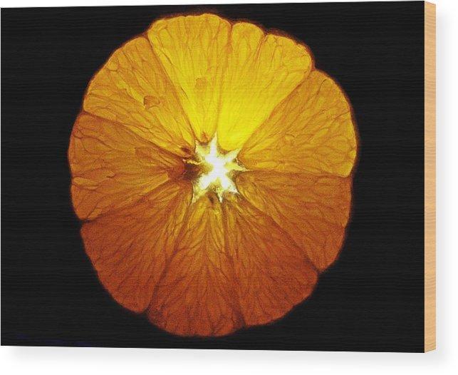 Orange Wood Print featuring the photograph Orange by Greg Betsworth