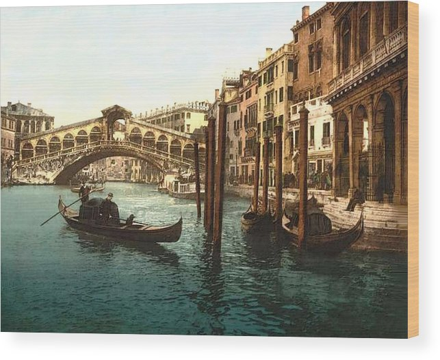 Boats Antiques Tapestry Picture Wooden Framed Venice?
