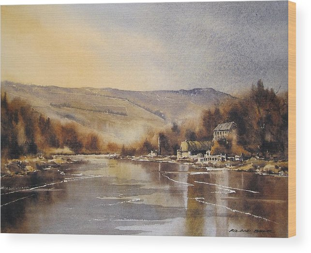 Ireland Wood Print featuring the painting The Barrow At Saint Mullins by Roland Byrne
