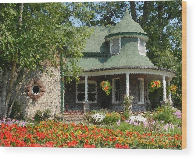 The Gardener\'s Cottage Kew Gardens Toronto Wood Print by Ian Howard