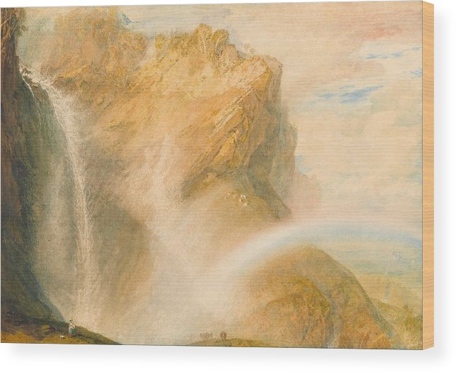 1810 Wood Print featuring the painting Upper Fall Of The Reichenbach - Rainbow by JMW Turner
