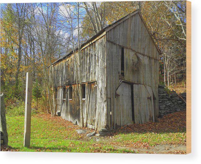 Fall Setting Wood Print featuring the photograph Back In Time by Kim Galluzzo Wozniak
