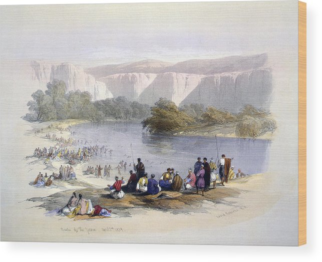 1840s Wood Print featuring the photograph Banks Of The Jordan, 1839, Lithograph by Everett