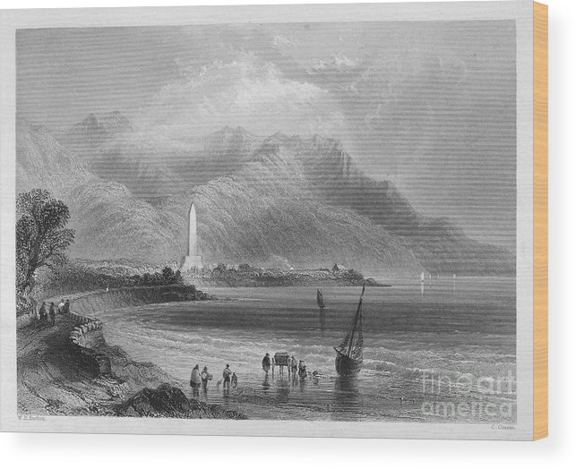 1840 Wood Print featuring the photograph Ireland: Rostrevor, C1840 by Granger