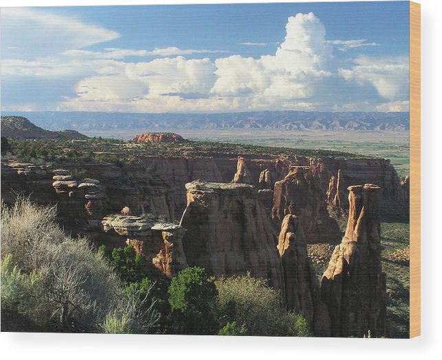 Colorado Wood Print featuring the photograph Sunlight And Shadows On Spires by John Myers