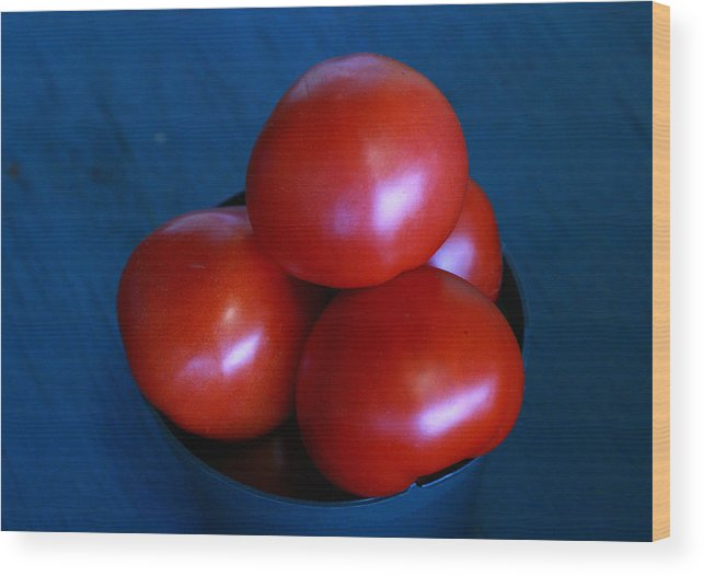 Tomato Wood Print featuring the photograph 209 Tomatoes by David Houston
