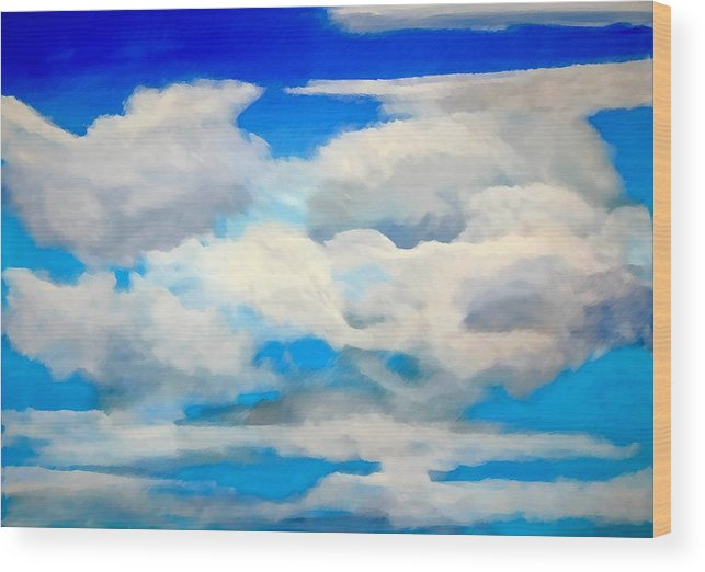 En Plein Air Wood Print featuring the painting Cloud Study by Donna Proctor