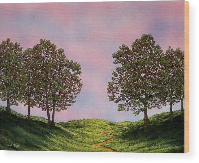 Landscape Wood Print featuring the painting Colors Of Dawn by Frank Wilson