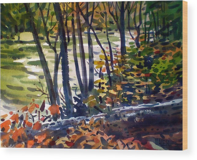 Sope Creek Wood Print featuring the painting Creekside Tranquility by Donald Maier