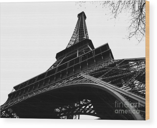 Eiffel Tower Wood Print featuring the photograph Eiffel From An Angle by Joshua Francia