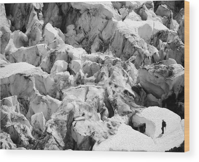 Glacier Wood Print featuring the photograph Glacier Overlook by Alasdair Turner