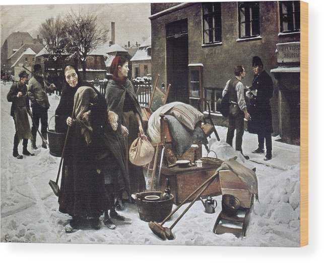 1890 Wood Print featuring the photograph Henningsen Evicted 1890 by Granger
