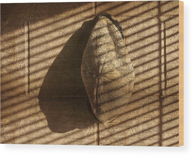 Hat Wood Print featuring the photograph Home Is Where I Hang My Hat by Barbara White
