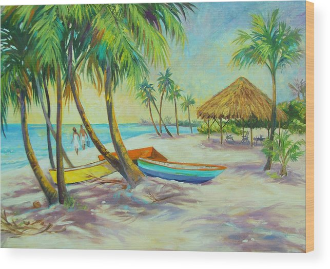 Island Wood Print featuring the painting Island Memories by Dianna Willman