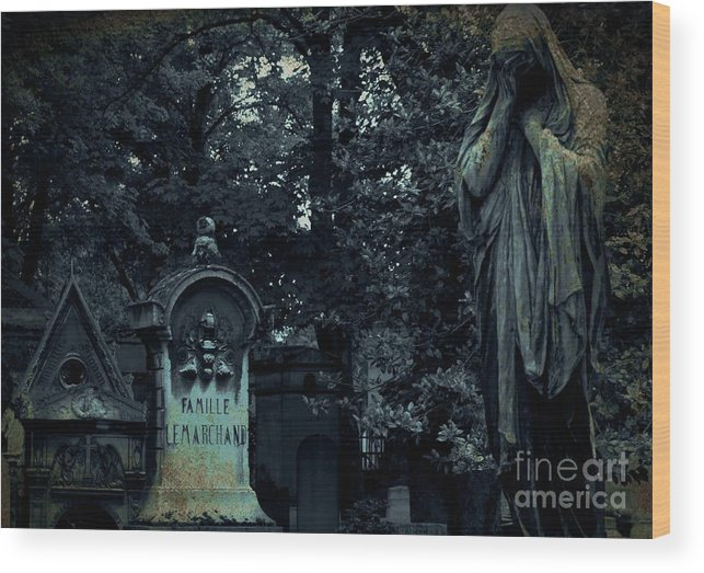 Statute Wood Print featuring the photograph Le Cimetiere Du Pere-lachaise by Louise Fahy