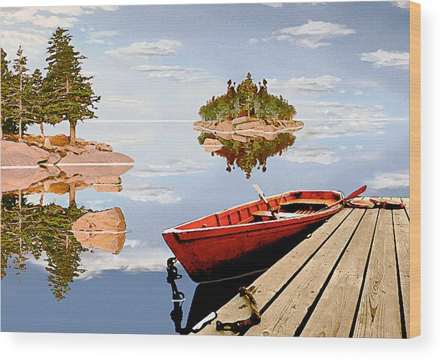 Maine Wood Print featuring the photograph Maine-tage by Peter J Sucy