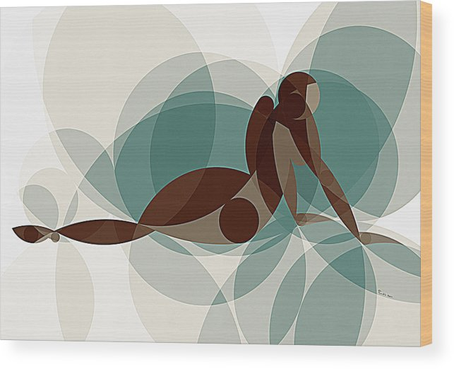 Art Wood Print featuring the painting Music Of The Spheres #1 by Peyablo