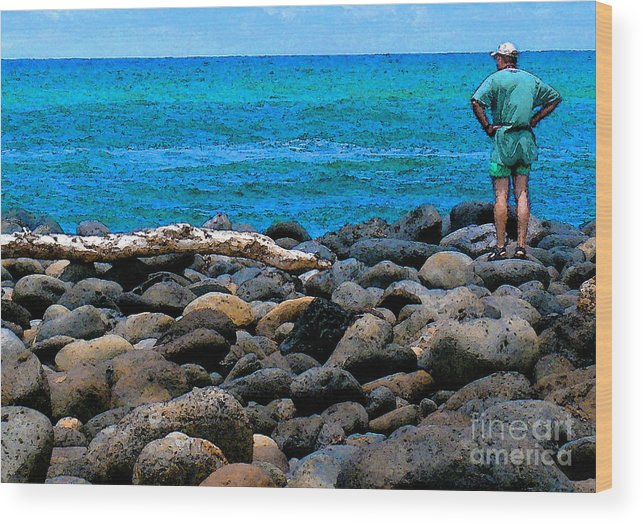 Hawaii Wood Print featuring the photograph Ocean Watch by James Temple