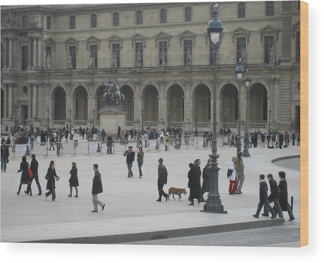 Louvre Wood Print featuring the photograph Place Du Carrousel At The Louvre by Victoria Heryet