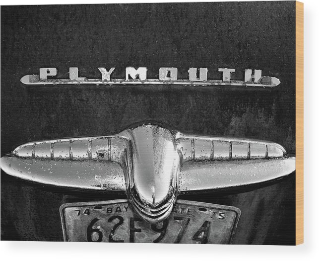 Plymouth Wood Print featuring the photograph Plymouth 2 by Tamra Lockard