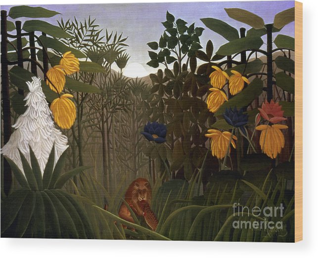 20th Century Wood Print featuring the photograph Rousseau: Lion by Granger