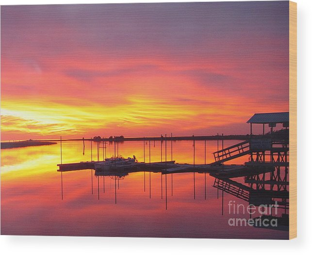 Sunsets Wood Print featuring the photograph Seeing Is Believing by Debbie May