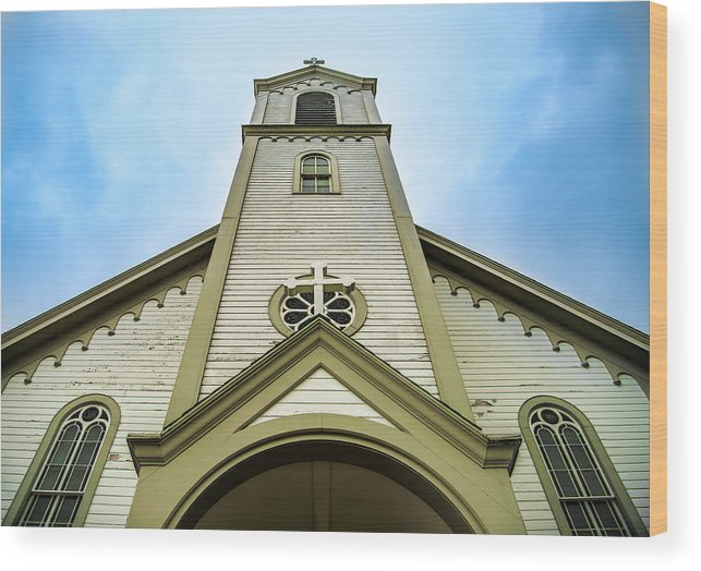 Odawa Wood Print featuring the photograph St. Ignatius Of Loyola Church And Cemetary by Onyonet Photo Studios